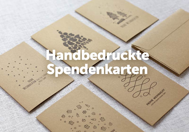 handbedruckte weihnachtskarten mit spendenanteil. Black Bedroom Furniture Sets. Home Design Ideas